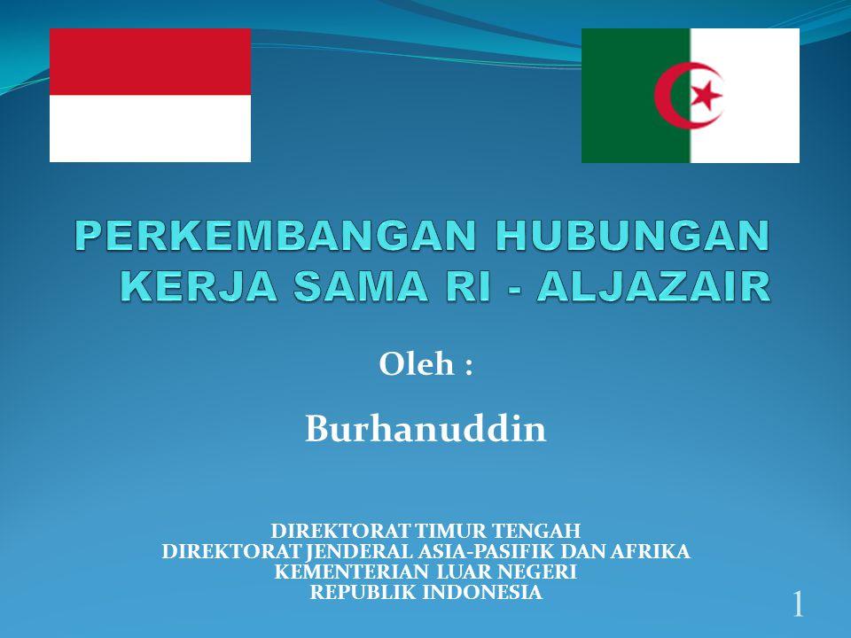 1 DIREKTORAT TIMUR TENGAH DIREKTORAT JENDERAL ASIA-PASIFIK DAN AFRIKA KEMENTERIAN LUAR NEGERI REPUBLIK INDONESIA Oleh : Burhanuddin