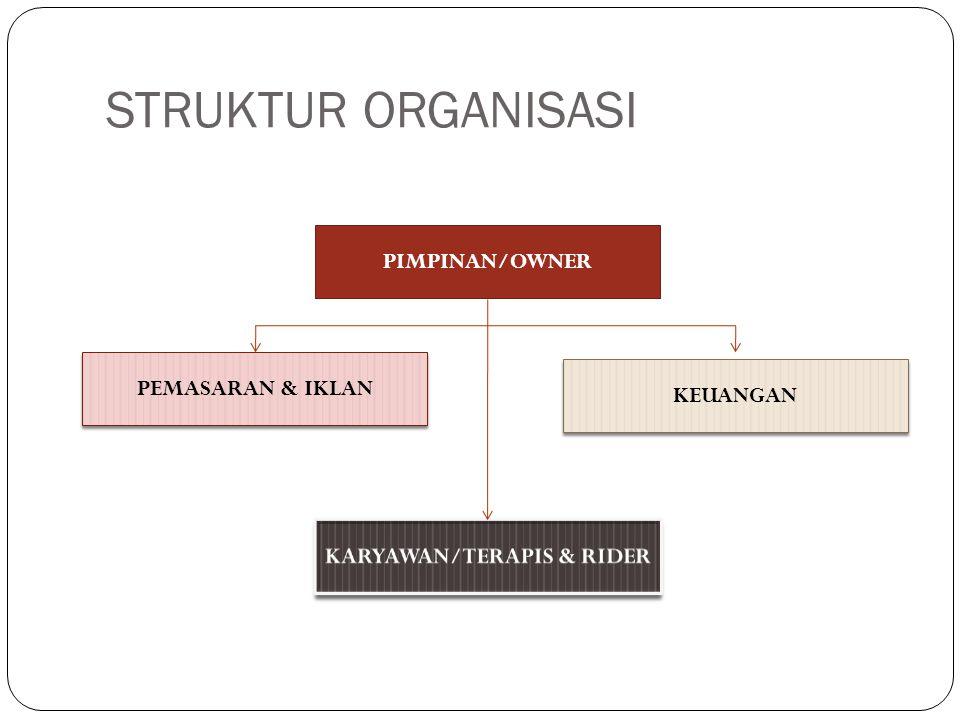 STRUKTUR ORGANISASI PIMPINAN/OWNER PEMASARAN & IKLAN KEUANGAN