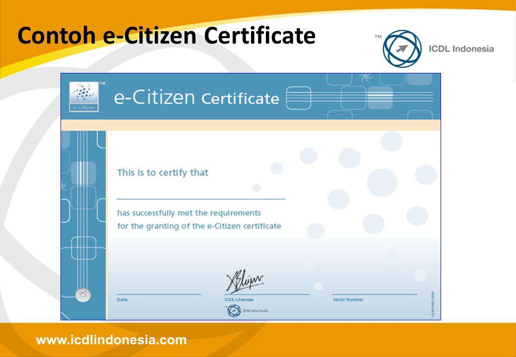 Contoh e-Citizen Certificate
