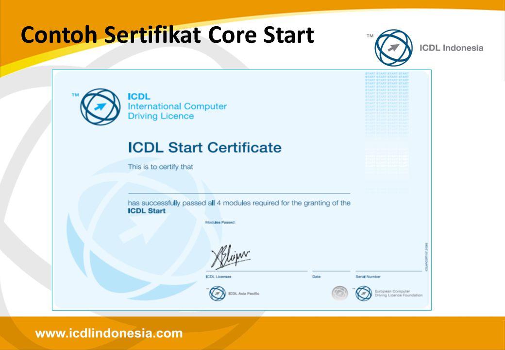 Contoh Sertifikat Core Start