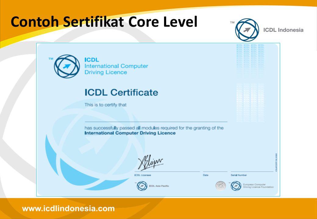 Contoh Sertifikat Core Level