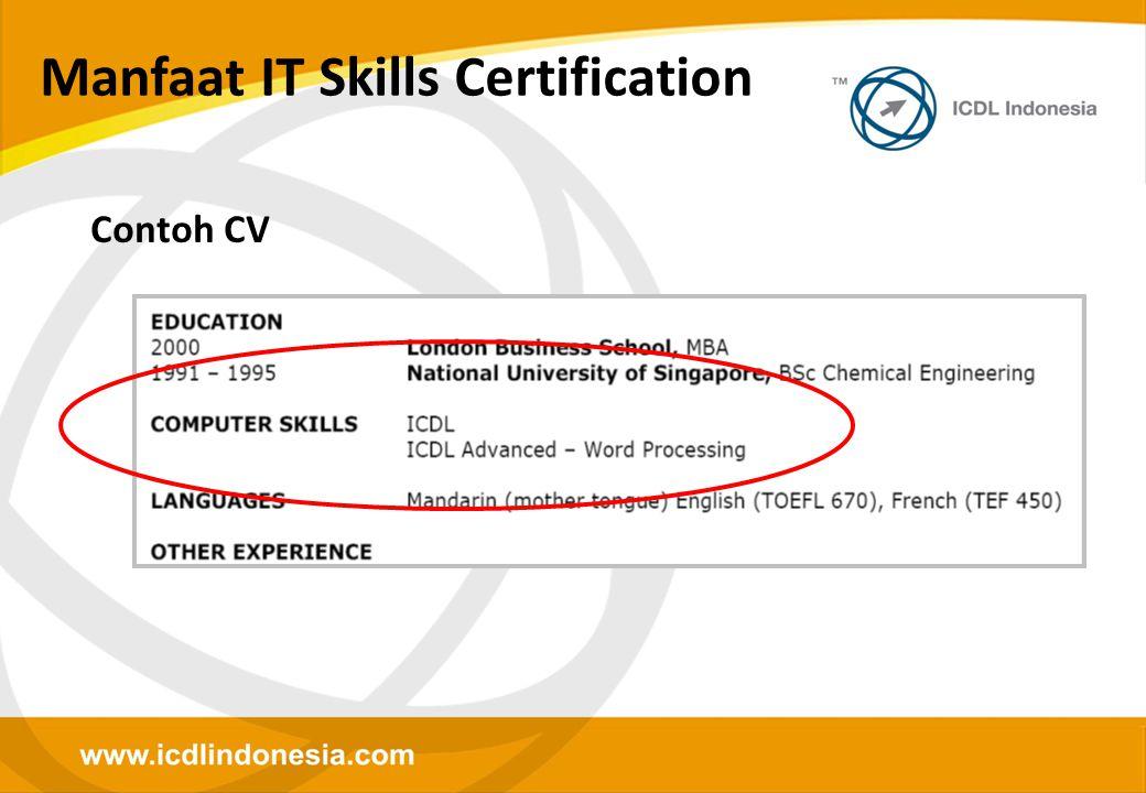 Manfaat IT Skills Certification Contoh CV