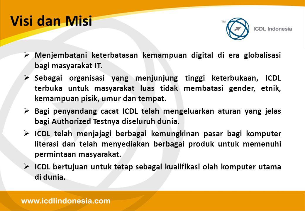 Visi dan Misi  Menjembatani keterbatasan kemampuan digital di era globalisasi bagi masyarakat IT.  Sebagai organisasi yang menjunjung tinggi keterbu