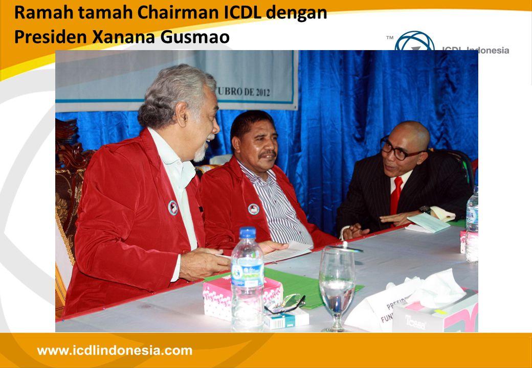 Ramah tamah Chairman ICDL dengan Presiden Xanana Gusmao