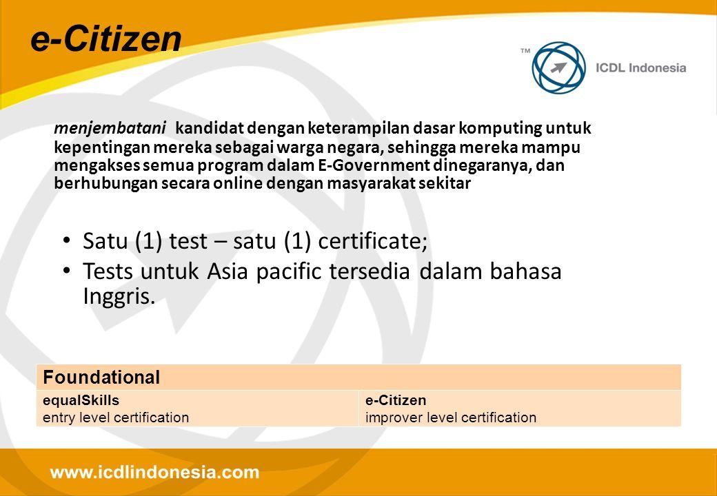 menjembatani kandidat dengan keterampilan dasar komputing untuk kepentingan mereka sebagai warga negara, sehingga mereka mampu mengakses semua program