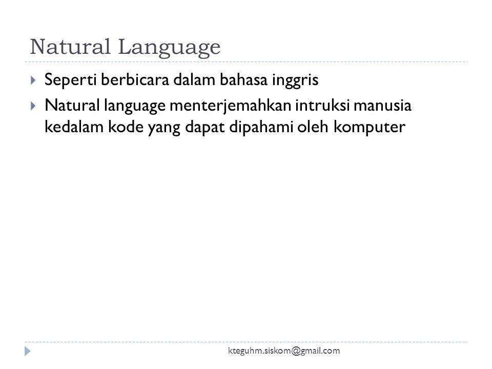 Bahasa tingkat tinggi kteguhm.siskom@gmail.com  Muncul tahun 1960  Dengan bahasa ini diharapkan dapat membuat program yang lebih kompleks  Penterje