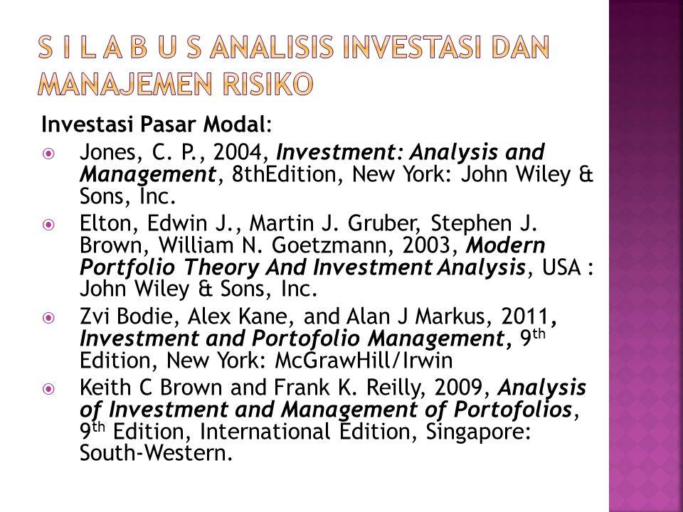 Investasi Pasar Modal:  Jones, C.