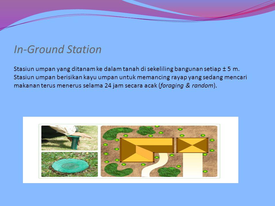 SISTEM PENGUMPANAN  Metode : Termite Baiting System (TBS) dengan menggunakan metode pengumpanan Sentricon System.