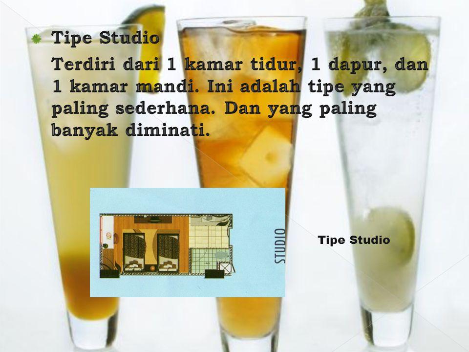 Tipe Studio (orientasi North) LevelTipeCicil 2 tahunKPACash 2StudioRp.