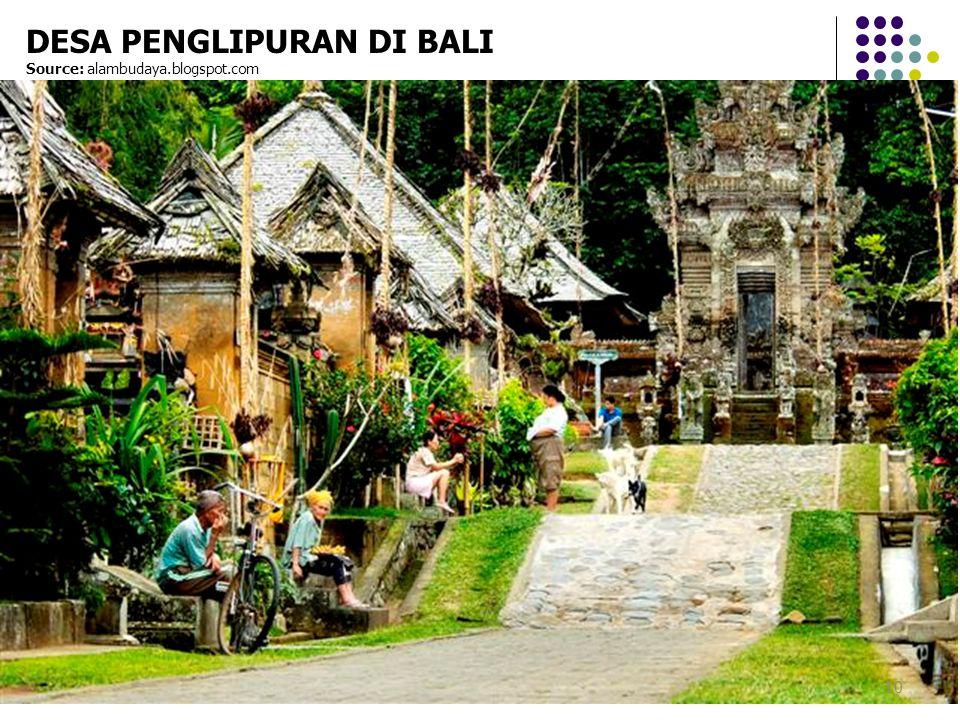 10 DESA PENGLIPURAN DI BALI Source: alambudaya.blogspot.com