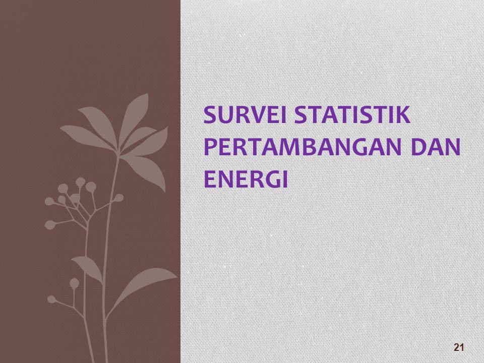 SURVEI STATISTIK PERTAMBANGAN DAN ENERGI 21