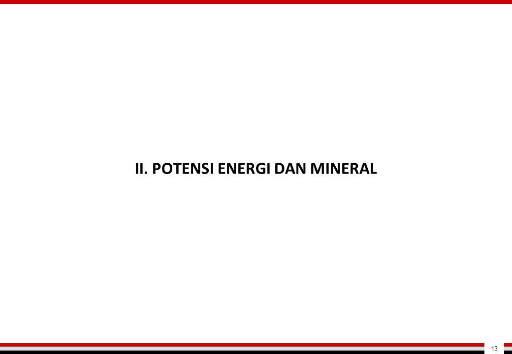 II. POTENSI ENERGI DAN MINERAL 13