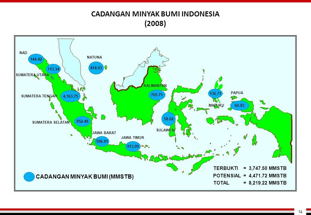 CADANGAN MINYAK BUMI INDONESIA (2008) 14