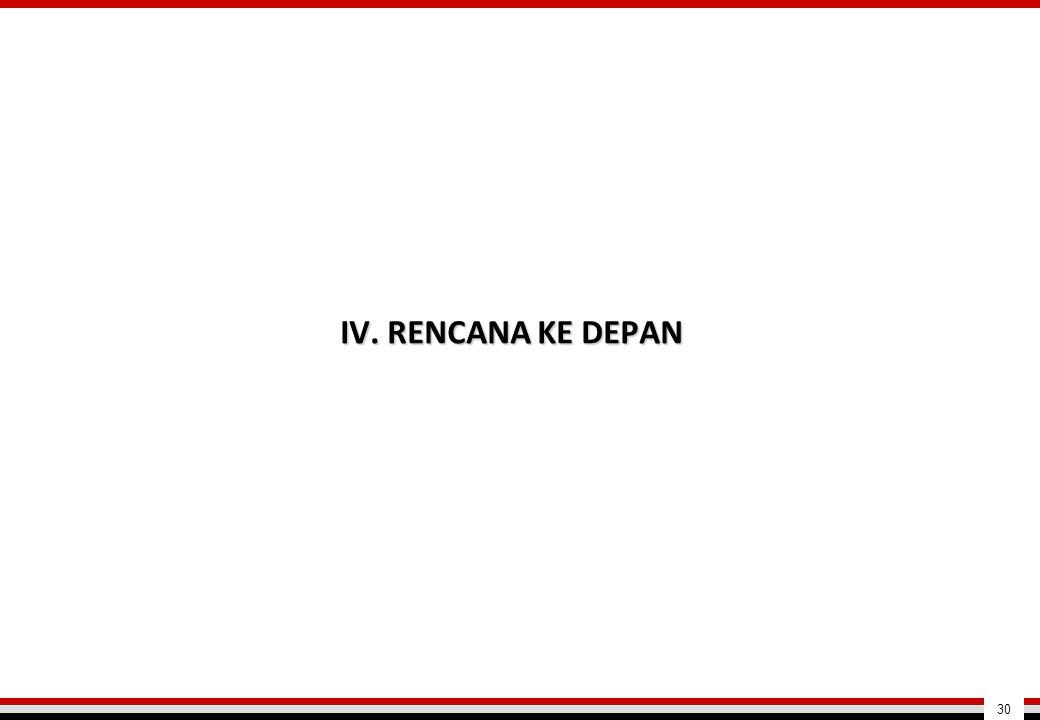 IV. RENCANA KE DEPAN 30