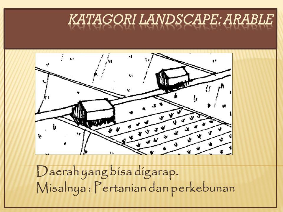 Daerah yang bisa digarap. Misalnya : Pertanian dan perkebunan