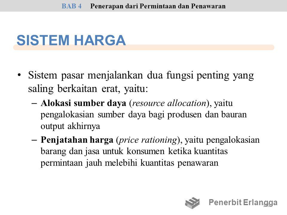 SISTEM HARGA • Sistem pasar menjalankan dua fungsi penting yang saling berkaitan erat, yaitu: – Alokasi sumber daya (resource allocation), yaitu penga