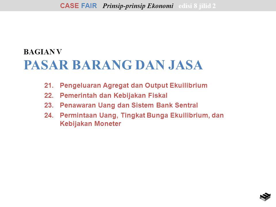 21.Pengeluaran Agregat dan Output Ekuilibrium 22.Pemerintah dan Kebijakan Fiskal 23.Penawaran Uang dan Sistem Bank Sentral 24.Permintaan Uang, Tingkat