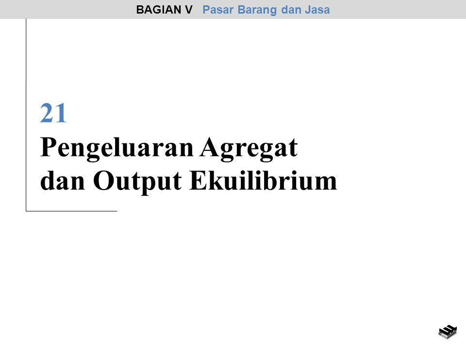 21 Pengeluaran Agregat dan Output Ekuilibrium BAGIAN V Pasar Barang dan Jasa