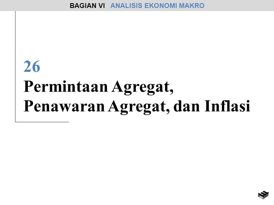 26 Permintaan Agregat, Penawaran Agregat, dan Inflasi BAGIAN VI ANALISIS EKONOMI MAKRO