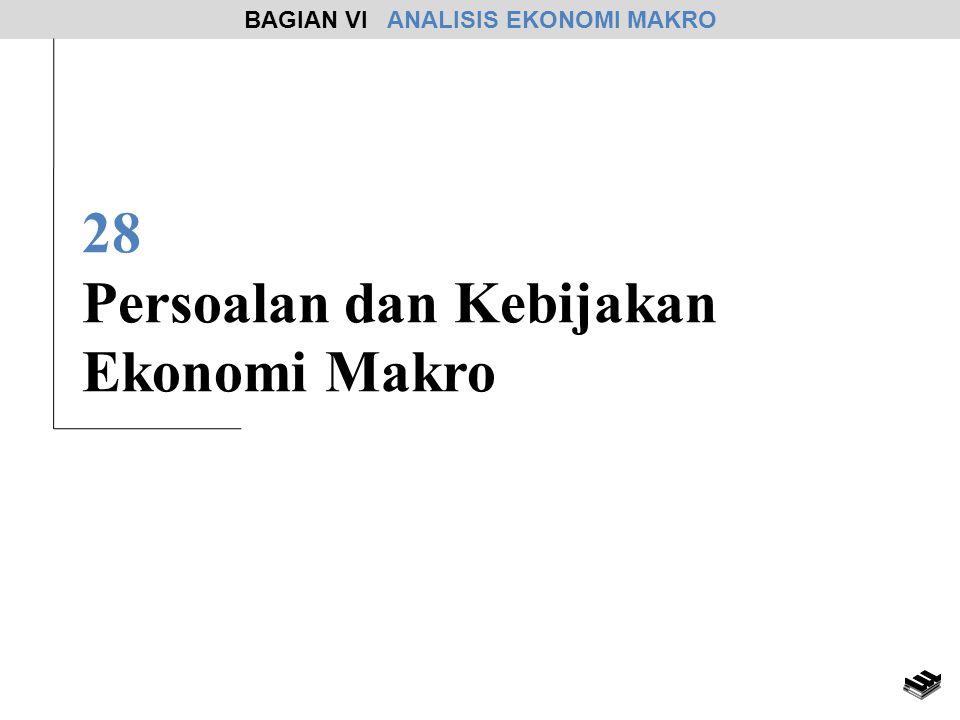 28 Persoalan dan Kebijakan Ekonomi Makro BAGIAN VI ANALISIS EKONOMI MAKRO