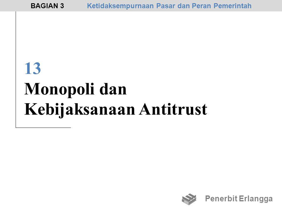 13 Monopoli dan Kebijaksanaan Antitrust Penerbit Erlangga BAGIAN 3Ketidaksempurnaan Pasar dan Peran Pemerintah