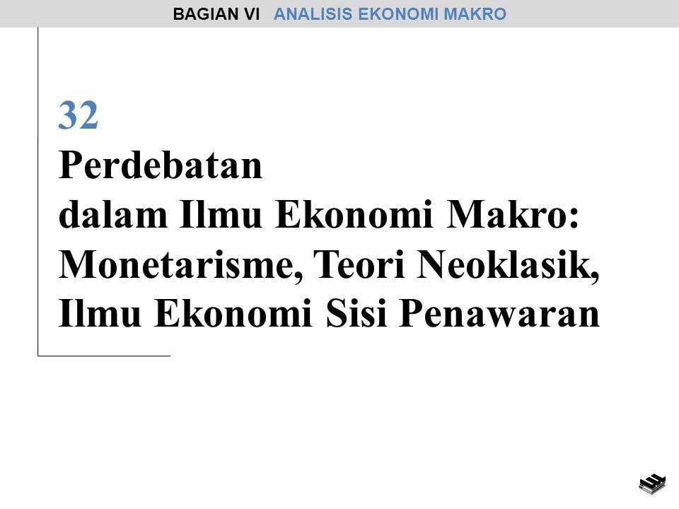 32 Perdebatan dalam Ilmu Ekonomi Makro: Monetarisme, Teori Neoklasik, Ilmu Ekonomi Sisi Penawaran BAGIAN VI ANALISIS EKONOMI MAKRO