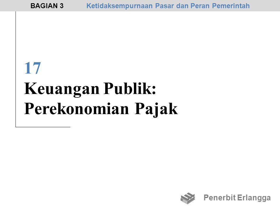 17 Keuangan Publik: Perekonomian Pajak Penerbit Erlangga BAGIAN 3Ketidaksempurnaan Pasar dan Peran Pemerintah