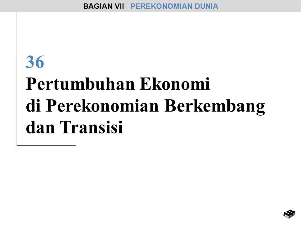 36 Pertumbuhan Ekonomi di Perekonomian Berkembang dan Transisi BAGIAN VII PEREKONOMIAN DUNIA
