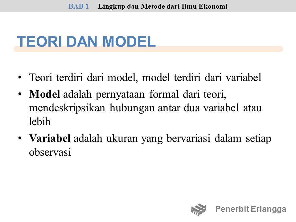 TEORI DAN MODEL • Teori terdiri dari model, model terdiri dari variabel • Model adalah pernyataan formal dari teori, mendeskripsikan hubungan antar du
