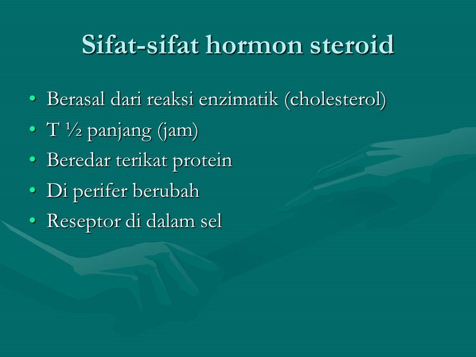 Sifat-sifat hormon peptida •Berasal dari pre hormon •T ½ pendek (dalam menit) •Beredar unbond (tidak terikat protein) •Di perifer tidak berubah •Resep