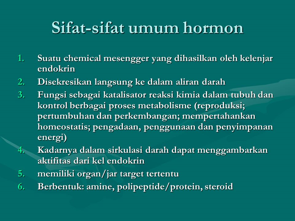 Kelenjar Endocrin •Korteks Adrenal •Mensekresi lebih dari 30 hormon steroid yang berbeda-beda (corticosteroids) –Mineralocorticoids •Aldosterone: memelihara keseimbangan electrolyte –Glucocorticoids •Cortisol: –Menstimulasi gluconeogenisis –Mobilisasi free fatty acids –Menghemat Glukosa –Agent anti-inflammatory –Gonadocorticoids •testosterone, estrogen, progesterone
