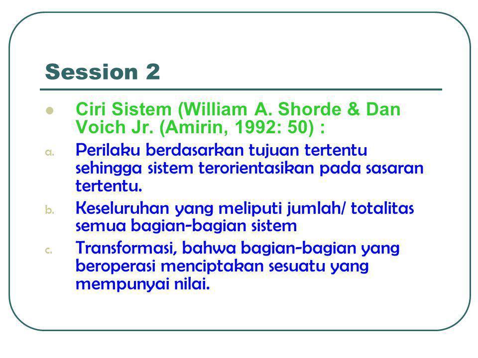Session 2  Ciri Sistem (William A.Shorde & Dan Voich Jr.