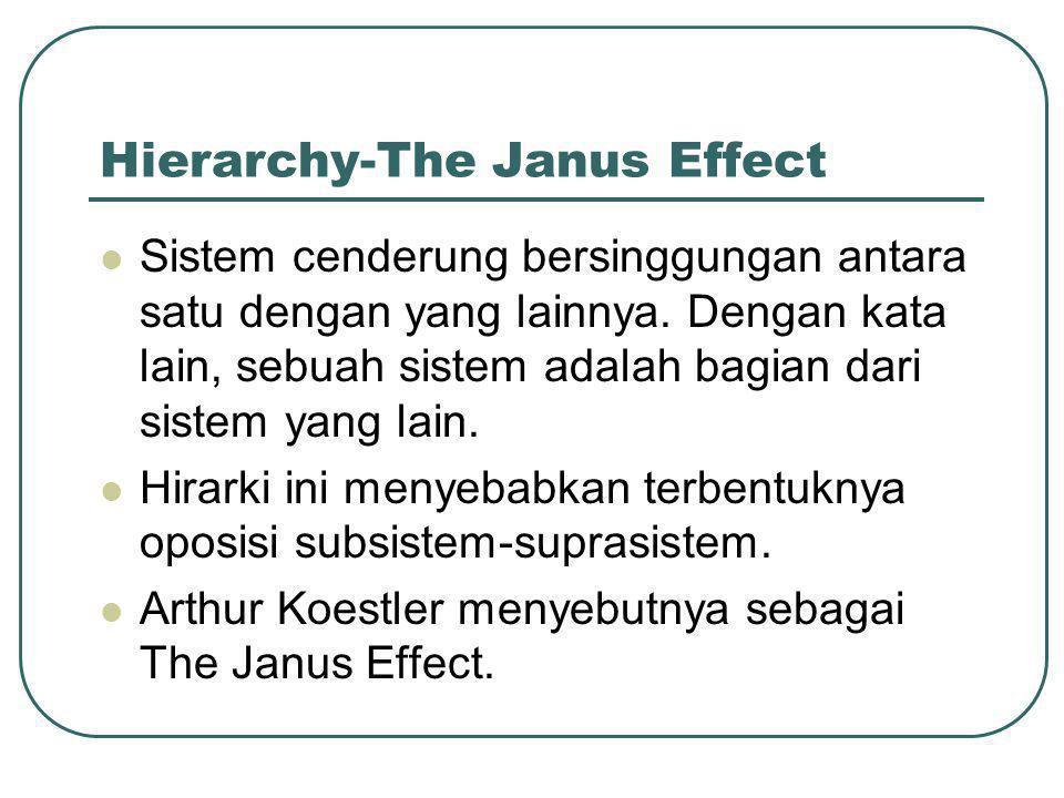 Hierarchy-The Janus Effect  Sistem cenderung bersinggungan antara satu dengan yang lainnya.