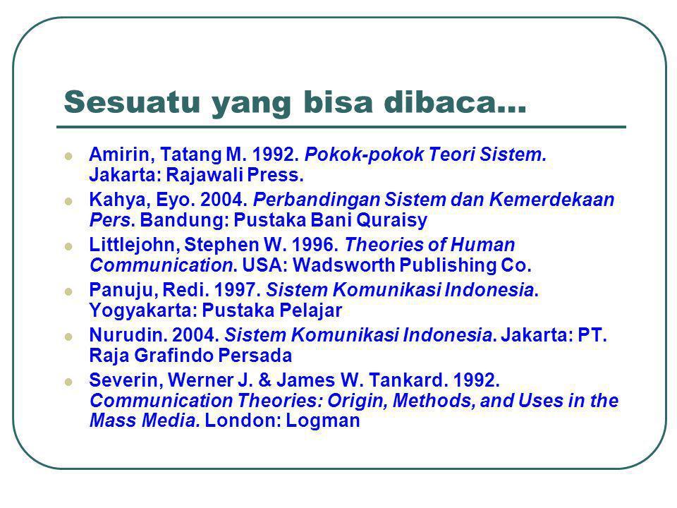 Sesuatu yang bisa dibaca…  Amirin, Tatang M.1992.