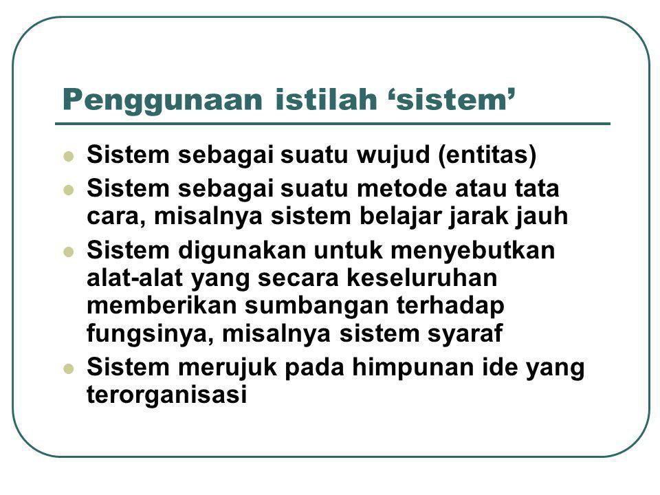 End of session 1…. Quiz (1 st ) a. What is a system.