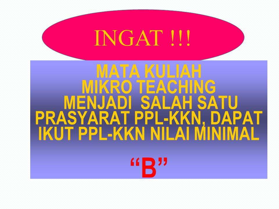 INGAT !!.