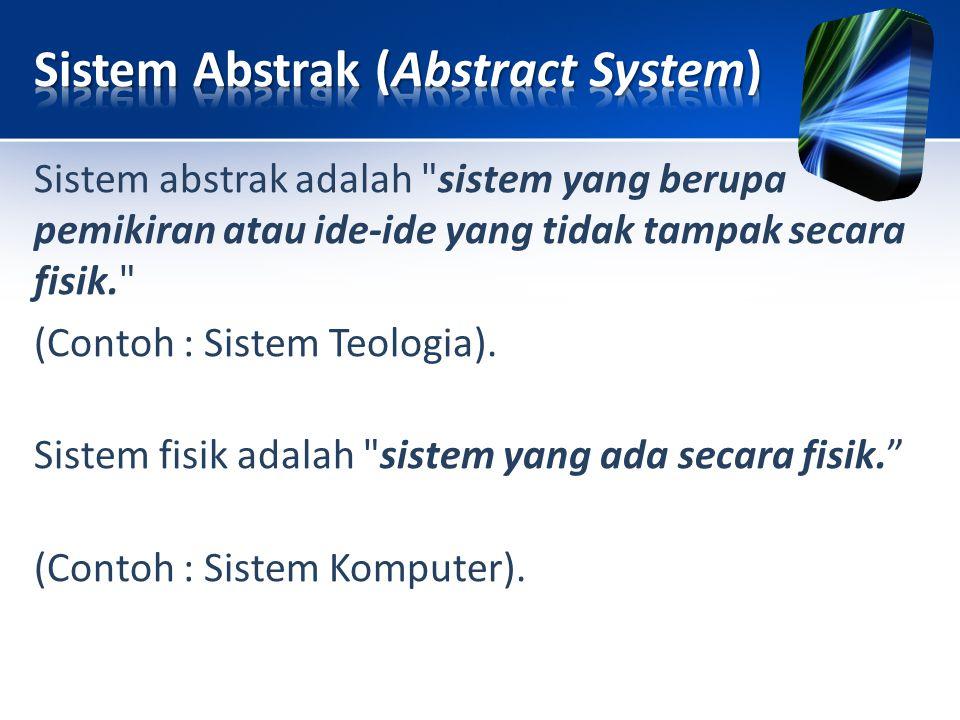 Sistem abstrak adalah