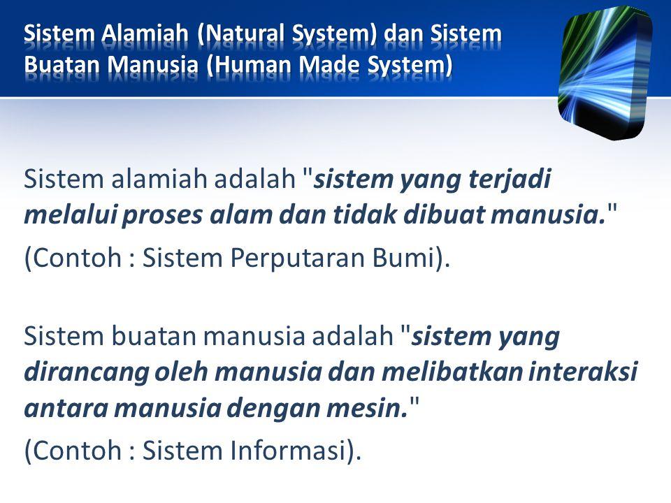 Sistem alamiah adalah