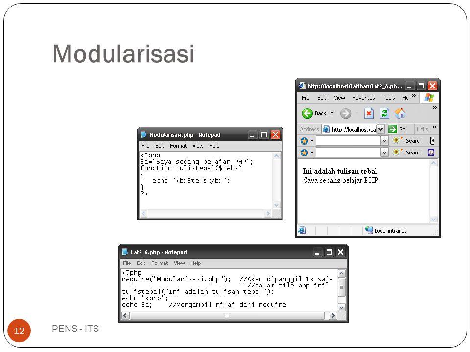 Modularisasi PENS - ITS 12