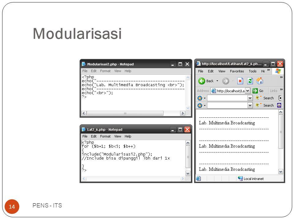 Modularisasi PENS - ITS 14