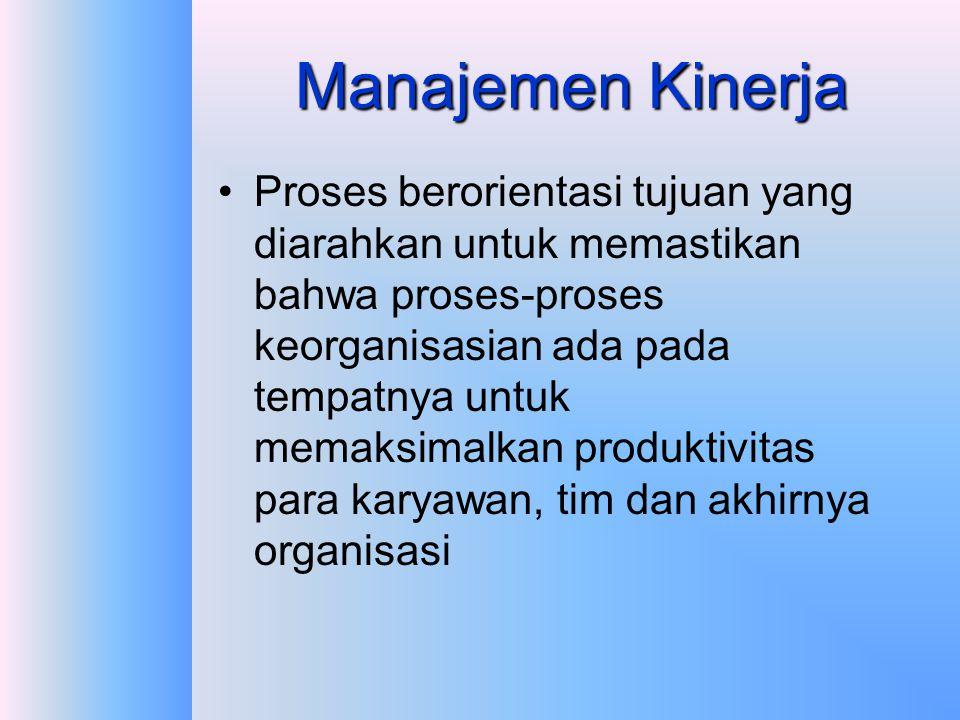 Apakah berbeda dengan Manajemen Kinerja?