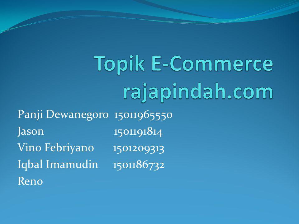 Pendahuluan  Rajapindah.com merupakan website E-Commerce pertama di indonesia yang bergerak di bidang jasa pindah barang  Rajapindah.com digagas pertama kali oleh Bapak Akbar Johan, yang melihat peluang bisnis yang unik untuk diterapkan di indonesia khususnya bagi anak kost, kontrakan, dan pemilik industri