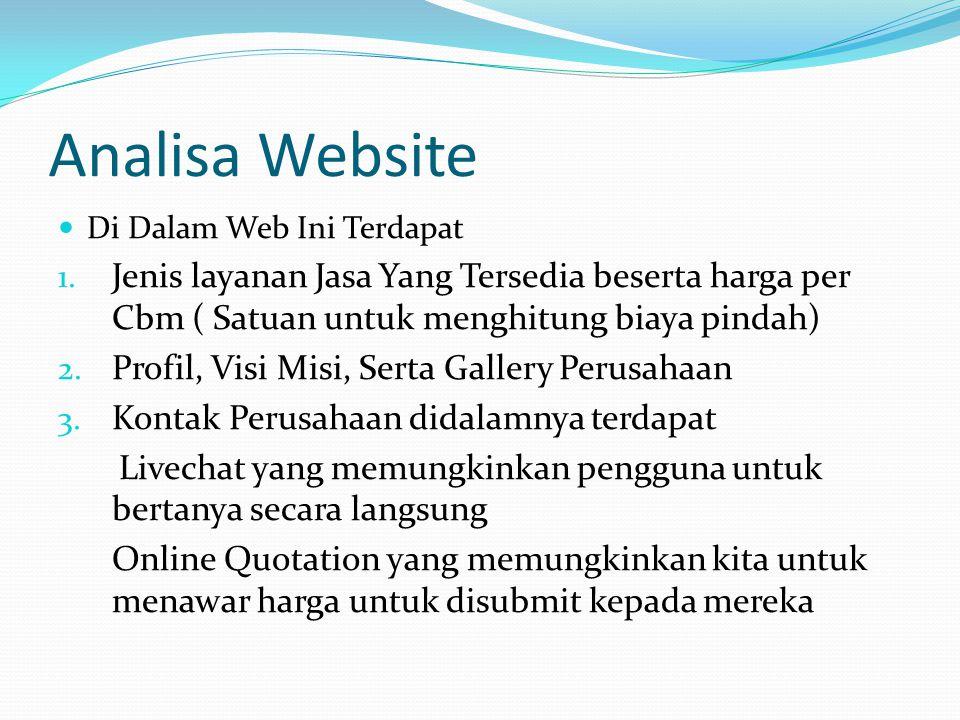 Analisa Website  Di Dalam Web Ini Terdapat 1.