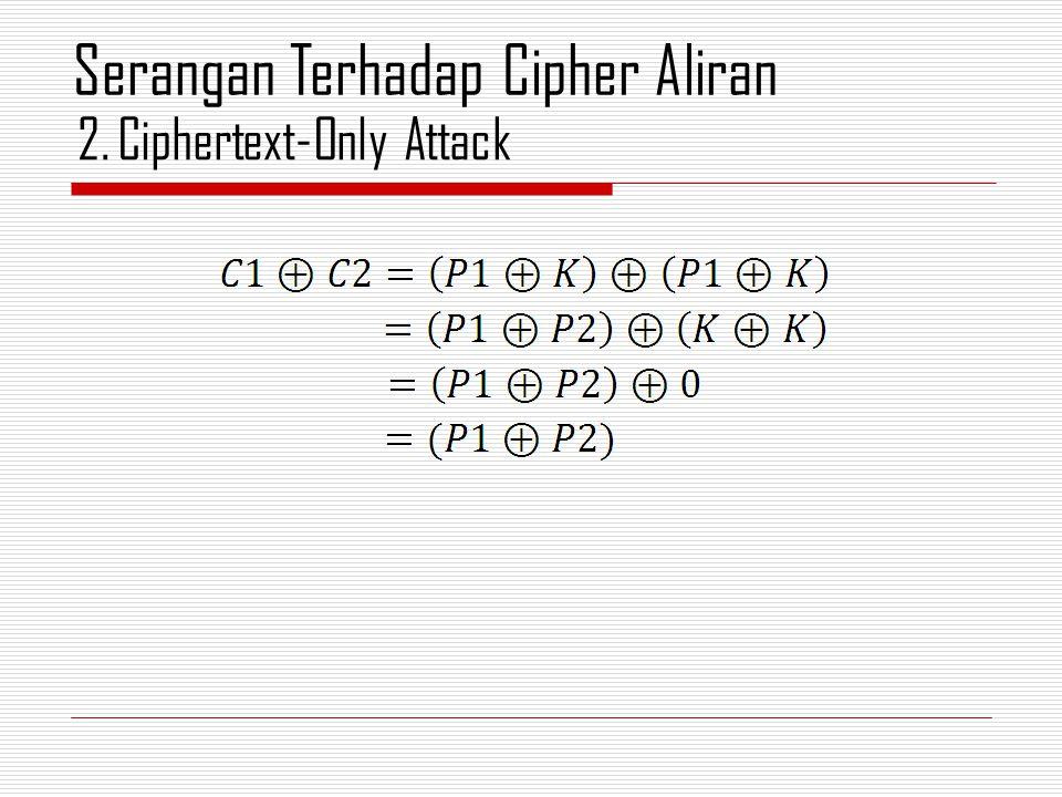 2.Ciphertext-Only Attack Serangan Terhadap Cipher Aliran
