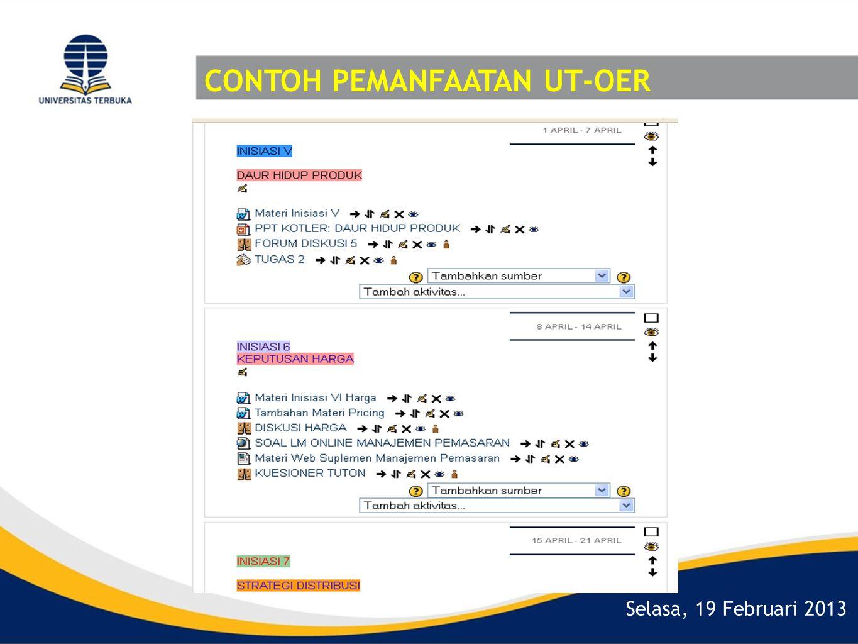 Selasa, 19 Februari 2013 CONTOH PEMANFAATAN UT-OER