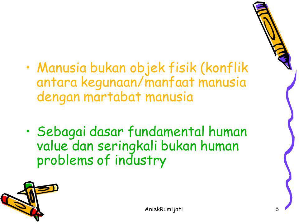 AniekRumijati7 •Pendekatan baru -> Konsep Peter Drucker •Management By Objectives