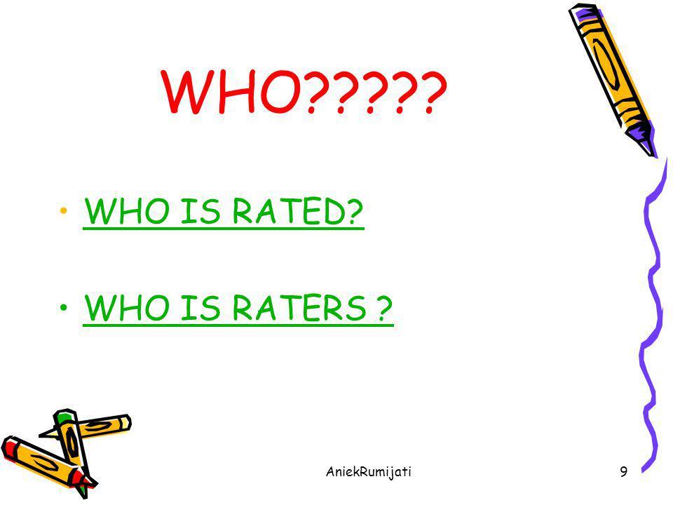 AniekRumijati10 WHO IS RATED.