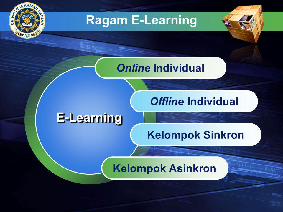 Strategi Implementasi E-Learning Content: instruktif vs informatif Lingkungan Belajar: ruang kelas vs Online vs atau real life, Strategi penyampaian: sinkron vs asinkron Desain instruksional: Tradisional vs rapid E-Learning efektif PILIHAN