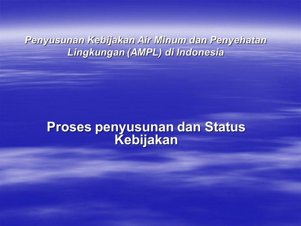 Penyusunan Kebijakan Air Minum dan Penyehatan Lingkungan (AMPL) di Indonesia Proses penyusunan dan Status Kebijakan