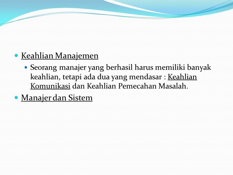 Manajer dan Sistem